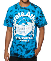 Milkcrate Electric Blue Tie Dye Tee Shirt