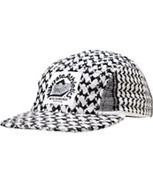 Milkcrate PLO Black & White 5 Panel Snapback Hat