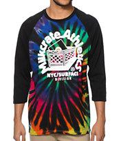 Milkcrate Tie Dye Baseball T-Shirt
