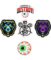Mishka Assorted Logo Stickers