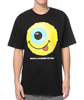 Mishka Have a Messed Up Day Black Tee Shirt
