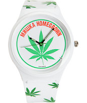 Mishka Homegrown White Analog Watch