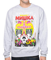 Mishka House Of Mishka Heather Grey Crew Neck Sweatshirt