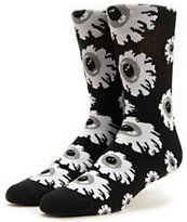 Mishka Keep Watch Black Crew Socks
