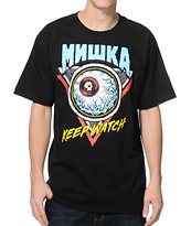 Mishka Keep Watch Or Die Black Tee Shirt