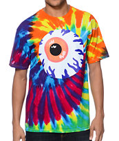 Mishka Keep Watch Rainbow Spiral Tie Dye Tee Shirt