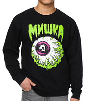 Mishka Lamour Keep Watch Black Crew Neck Sweatshirt