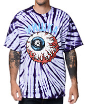 Mishka Lamour Keep Watch Purple & White Tie Dye Tee Shirt