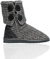 Miss Me Cupcake Grey Sweater Boot
