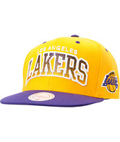 Mitchell And Ness LA Lakers Arch Gradient Yellow Snapback Hat