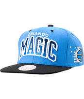 Mitchell And Ness Orlando Magic Arch Gradient Blue Snapback Hat