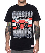Mitchell and Ness Chicago Bulls Grad Black Tee Shirt