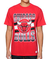 Mitchell and Ness Chicago Bulls Grad Red Tee Shirt