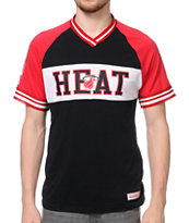 Mitchell and Ness Heat Substitution Black Knit Tee Shirt