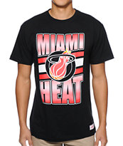 Mitchell and Ness Miami Heat Grad Black Tee Shirt