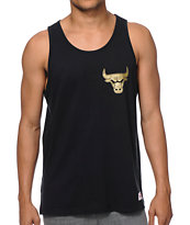Mitchell and Ness NBA Bulls Black & Gold Tank Top