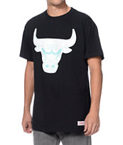 Mitchell and Ness NBA Bulls Glow In The Dark Black Tee Shirt