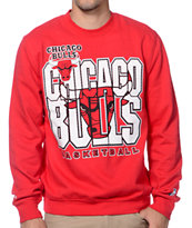 Mitchell and Ness NBA Chicago Bulls Technical Foul Red Crew Neck Sweatshirt