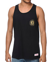 Mitchell and Ness NBA Nets Black & Gold Tank Top