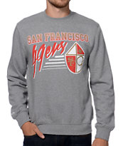 Mitchell and Ness San Francisco 49ers Training Room Grey Crew Neck Sweatshirt