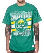 Mitchell and Ness Seattle Sonics Grad Green Tee Shirt