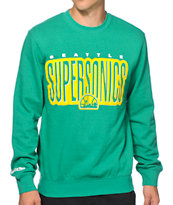 Mitchell and Ness Seattle Sonics Retro Crew Neck Sweatshirt