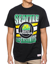 Mitchell and Ness Sonics Grad Black Tee Shirt