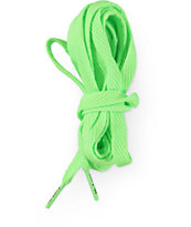 Mr. Lacy Flatties Neon Green Shoe Laces