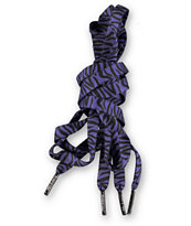 Mr. Lacy Printies Zebra Purple Shoe Laces