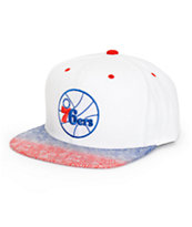 NBA Mitchell and Ness 76ers Court Vision Snapback Hat