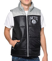 NBA Mitchell and Ness Brooklyn Nets Black Vest