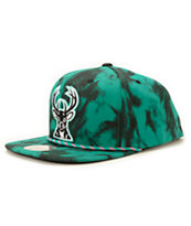 NBA Mitchell and Ness Bucks Greenback Strapback Hat