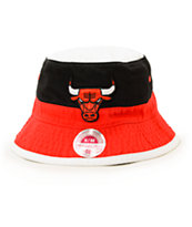 NBA Mitchell and Ness Bulls Color Blocked Bucket Hat