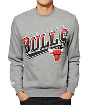 NBA Mitchell and Ness Bulls Diagonal Swap Crew Neck Sweatshirt