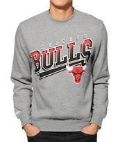 NBA Mitchell and Ness Bulls Diagonal Swap Crew Neck Sweatshirt