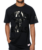 NBA Mitchell and Ness Bulls Foil T-Shirt