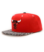 NBA Mitchell and Ness Bulls In The Stands Red Snapback Hat