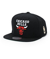 NBA Mitchell and Ness Bulls Solid Snapback Hat