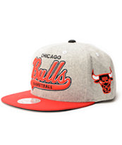 NBA Mitchell and Ness Bulls Tailsweeper Melton Strapback Hat