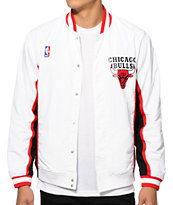 NBA Mitchell and Ness Bulls Warmup Jacket