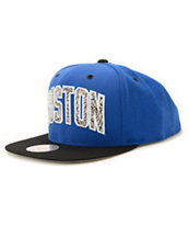 NBA Mitchell and Ness Celtics Blue Team Snapback Hat