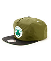 NBA Mitchell and Ness Celtics Nylon Ripstop Zip Hat