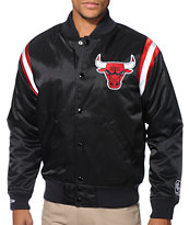 NBA Mitchell and Ness Chicago Bulls Division Black Satin Jacket