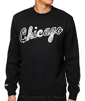 NBA Mitchell and Ness Chicago Script Crew Neck Sweatshirt