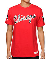 NBA Mitchell and Ness Chicago Script T-Shirt