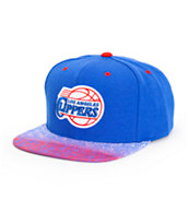 NBA Mitchell and Ness Clippers Court Vision Snapback Hat