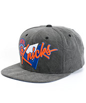 NBA Mitchell and Ness Crease Triangle Knicks Snapback Hat