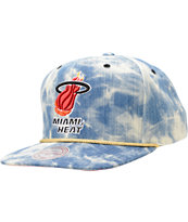 NBA Mitchell and Ness Heat Acid Wash Blue Snapback Hat