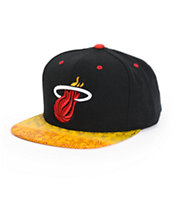 NBA Mitchell and Ness Heat Court Vision Snapback Hat