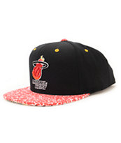 NBA Mitchell and Ness Heat In The Stands Black Snapback Hat